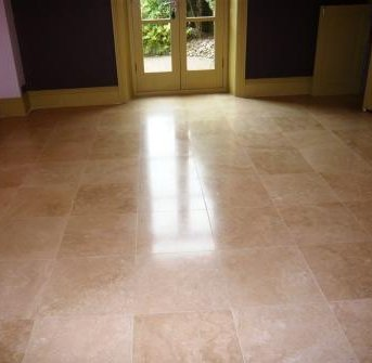 Travertine Floor After